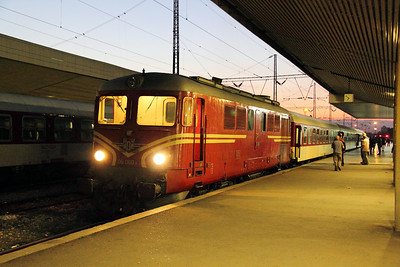 06 060 at Sofia Central on 2nd October 2011 working railtour