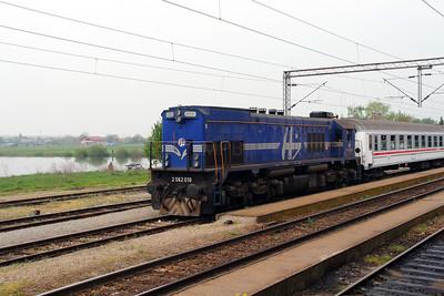 1) 2062 018 (98 78 2062 018-3) at Kutina on 6th April 2014 working railtour