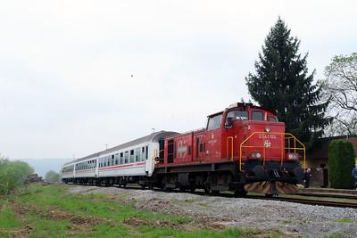 1) 2041 104 (98 78 2041 104-7) at Lipik on 6th April 2014 working railtour