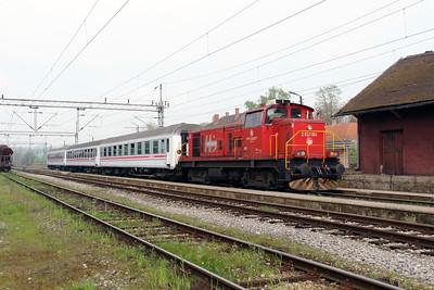 3) 2041 104 (98 78 2041 104-7) at Banova Jaruga on 6th April 2014 working railtour