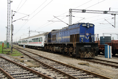 1) 2062 018 (98 78 2062 018-3) at Zagreb Ranzirni Kolodvor on 6th April 2014 working railtour