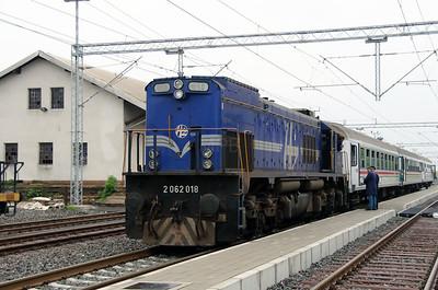 2) 2062 018 (98 78 2062 018-3) at Velika Gorica on 6th April 2014 working railtour