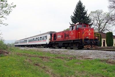 3) 2041 104 (98 78 2041 104-7) at Lipik on 6th April 2014 working railtour