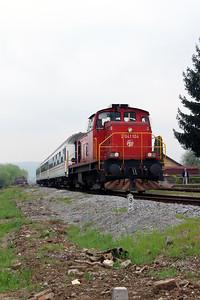4) 2041 104 (98 78 2041 104-7) at Lipik on 6th April 2014 working railtour