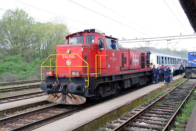 4) 2041 104 (98 78 2041 104-7) at Banova Jaruga on 6th April 2014 working railtour