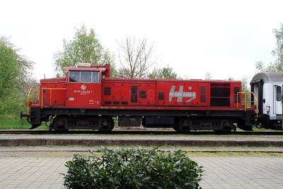 7) 2041 104 (98 78 2041 104-7) at Lipik on 6th April 2014 working railtour