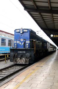 2062 018 at Zagreb Glavni Kolodvor on 6th April 2014 working railtour