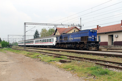 3) 2062 018 (98 78 2062 018-3) at Kutina on 6th April 2014 working railtour