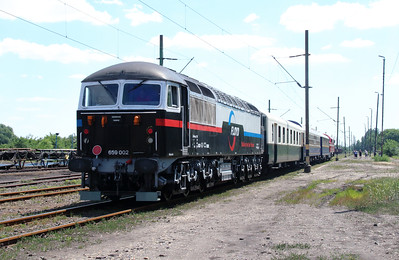 Floyd, 659 002 (92 55 0659 002-3 H-FLOYD ex UK 56 115) at Bukkabrany on 3rd July 2015 working PTG Railtour (3)