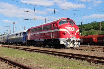 M61 001 at Diosgyor on 3rd July 2015 working PTG Railtour (3)