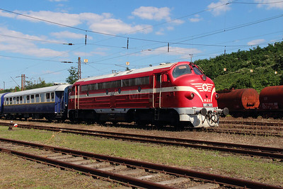 M61 001 at Diosgyor on 3rd July 2015 working PTG Railtour (6)