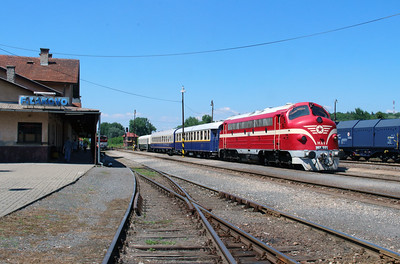 M61 001 at Filakovo (Slovakia) on 4th July 2015 working PTG Railtour (19)
