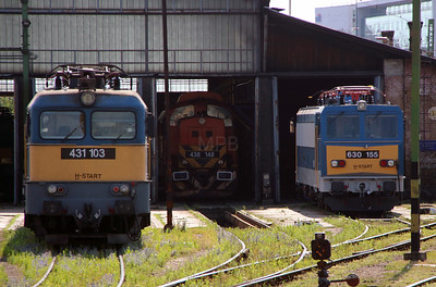 431 103 & 630 155 at Budapest Keleti Depot on 3rd July 2015