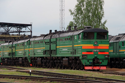 2TE10M 3424 at Daugavpils Depot on 20th May 2013 (2)