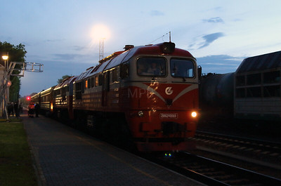 2) 2M62 0569 at Kybartai on 24th May 2013 working railtour