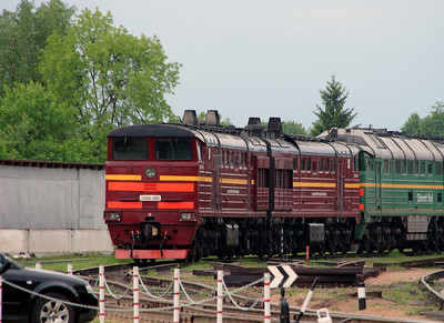 2TE10U 0185 at Daugavpils Depot (Latvia) on 20th May 2013