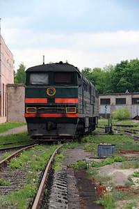 1) 2TE116 177 at Daugavpils Works (Latvia) on 20th May 2013