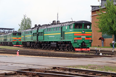 3) ) 2TE10U 0217 at Daugavpils Depot (Latvia) on 20th May 2013
