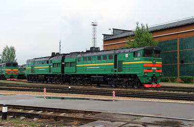 2TE10M 3424 at Daugavpils Depot on 20th May 2013