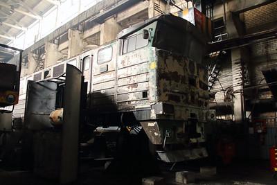 2TE116 1076 at Daugavpils Works (Latvia) on 20th May 2013