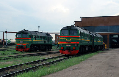 M62 1176 & 2M62 0360 at Daugavpils Depot on 20th May 2013