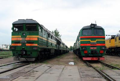 2TE116 1060 & 2M62 1146 at Daugavpils Depot on 20th May 2013 (2)