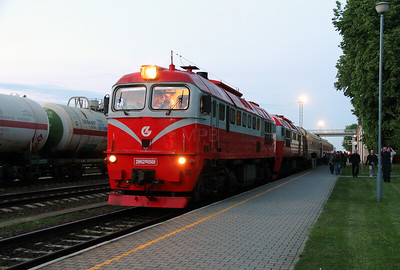1) 2M62 0569 at Kybartai on 24th May 2013 working railtour