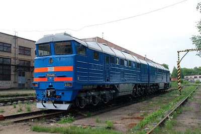 3) 2TE116 933 at Daugavpils Works (Latvia) on 20th May 2013