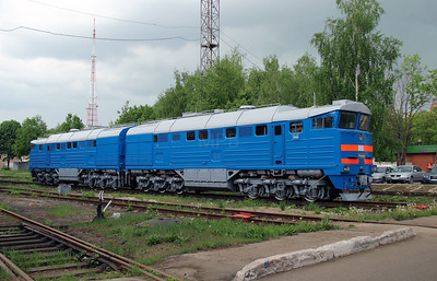 2) 2TE116 933 at Daugavpils Works (Latvia) on 20th May 2013