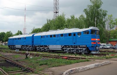 2) 2TE116 933 at Daugavpils Works (Latvia) on 20th May 2013