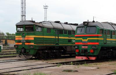 2TE116 1060 & 2M62 1146 at Daugavpils Depot on 20th May 2013 (1)