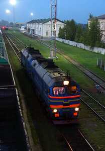1) RZD, 2M62 0145 at Kybartai on 24th May 2013