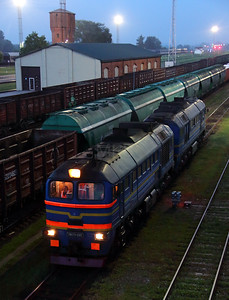 2) RZD, 2M62 0145 at Kybartai on 24th May 2013