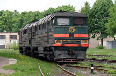 2) 2TE116 177 at Daugavpils Works (Latvia) on 20th May 2013