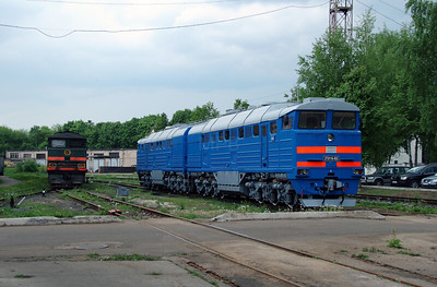 1) 2TE116 933 at Daugavpils Works (Latvia) on 20th May 2013