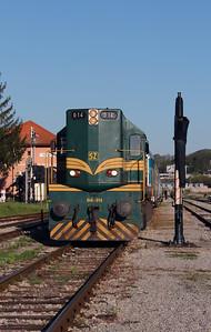 644 014 (94 79 2644 014-4) at Rogatec on 20th April 2015 working railtour (2)