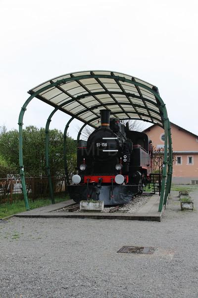 steam, 51 156 at Grosuplje on 21st April 2015