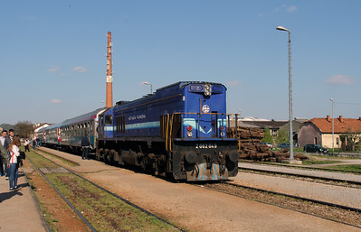 HZ, 2062 049 (98 78 2062 049-8) at Zabok on 20th April 2015 working railtour (2)