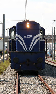A326 at Athens International Airport Siding on 7th October 2015 working PTG Railtour (12)