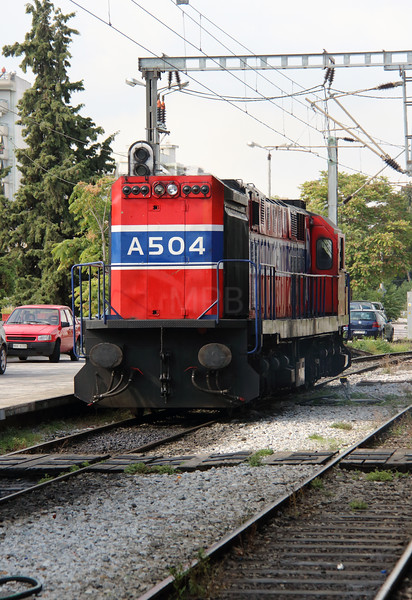 A504 at Thessaloniki on 9th October 2015 working PTG Railtour