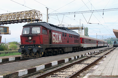 07 124 at Blagoevgrad on 4th October 2015 working PTG Railtour (2)