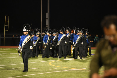Football Band Color guard halftime 11-3-17