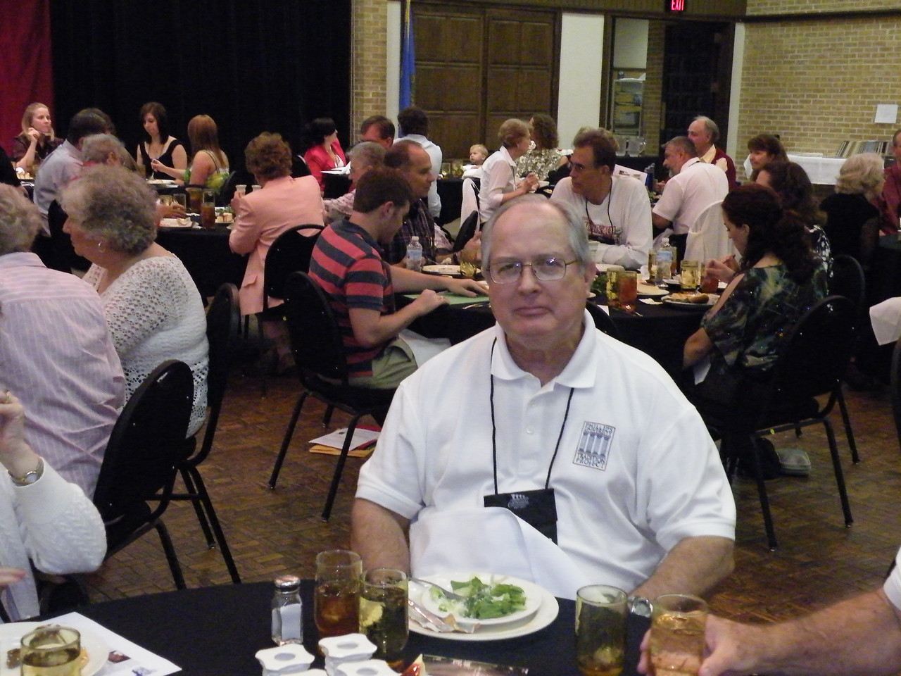 PULF President Jim Wright looks satisfied with his meal.