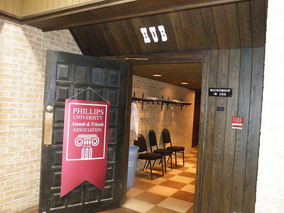 Entrance to The Hub in the Gantz Center on the former Phillips University campus, site of the Faculty/Staff Reception on Friday night.