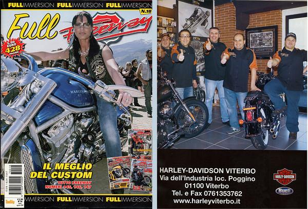 FULL Freeway Magazine #18 Agosto 2007<br /> Foto di copertina e pubblicità Harley-Davidson Viterbo Like Brothers