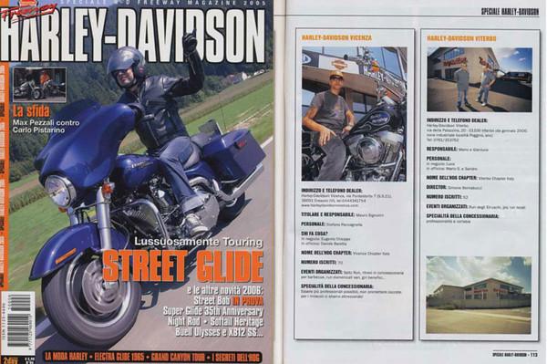 "Allegato a Freeway Magazine ""Speciale Harley-Davidson""<br /> Pag.113"