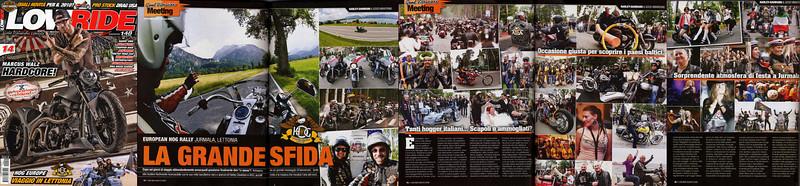 LOWRIDE #14 Agosto 2009<br /> Servizio 18° EUROPEAN HOG RALLY Jurmala Lettonia
