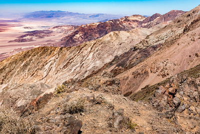 Downward view from Dantes View into badwater basin