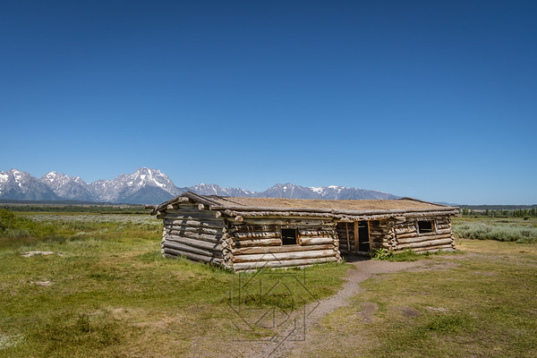 The Cunningham Cabin stands as one of the valley's few remaining structures from the homesteading era