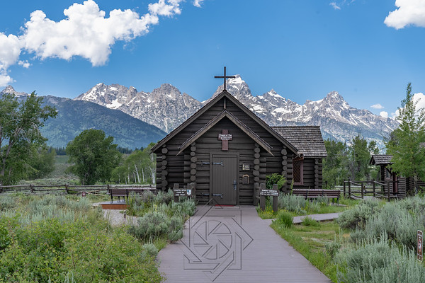 Chapel of Transfiguration just within the southern entrance of Grand Teton National Park